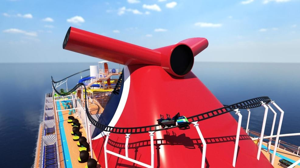 Carnival announces roller coaster on new cruise ship | KCBY