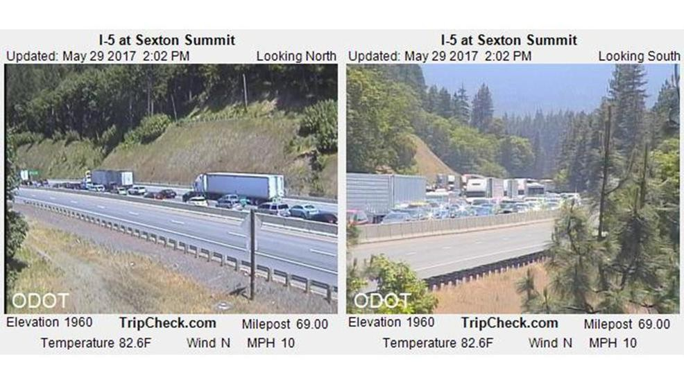 ODOT: Truck and trailer crash delays I-5 northbound traffic